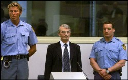Enver Hadzihasanovic at court in The Hague. Photo courtesy of the ICTY.