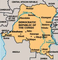Map of DRC (by courtesy of the ICC)