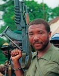 Taylor's rebel forces, the National Patriotic Front of Liberia (NPFL), launched an offensive to overthrow then Liberian President, Samuel Doe in December 1989
